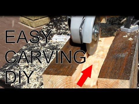 Easy grooving, carving in wood, all new product DIY