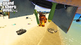 GTA 5 PC Mods - MEGA AIRSTRIKE MOD! GTA 5 Mods Predator Missile & Carpet Bomb Funny Moments!