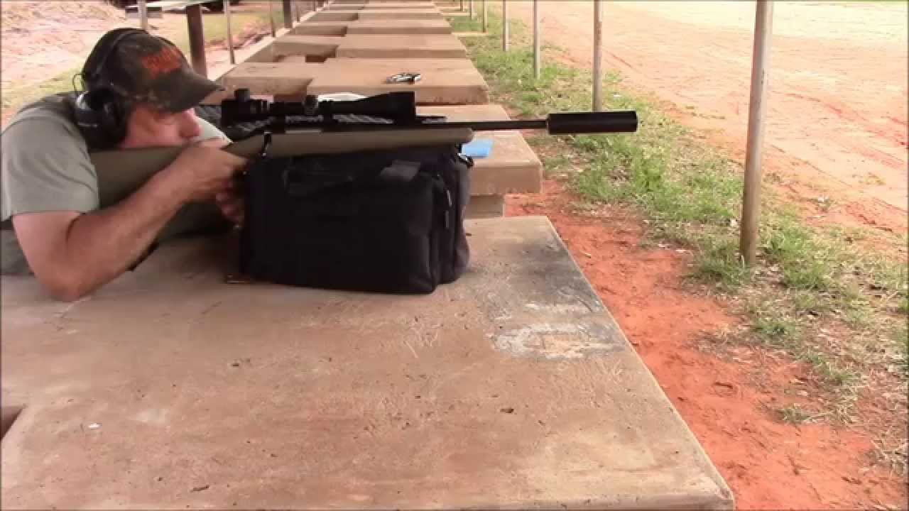 At The Range With The Ruger American Ranch Rifle in 5 56 Shooting  Suppressed Super Sonic Loads