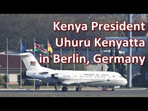 Kenyan President Kenyatta departs from Berlin, Germany after a visit