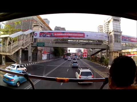 Travel Around Jakarta, Jakarta City Tour Bus For Free,  Thamrin, Hotel Indonesia Route