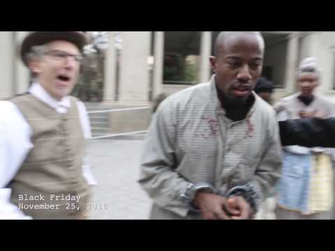 Slave Auction - Black Friday Sale - Union Square New York City - November 25, 2016