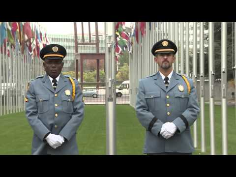 Palestine and Holy See flags raised at United Nations Geneva
