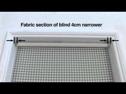 how to measure for roller blinds laura ashley youtube. Black Bedroom Furniture Sets. Home Design Ideas