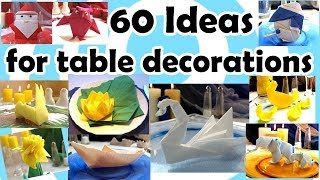 60 Ideas For Table Decorations With Origami