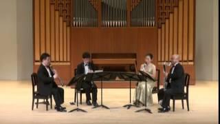 """W.A.Mozart """" Quartet KV.172""""   3rd movt.  MENUETTO  /   Clarinet Quartet Ensemble Sonorité"""