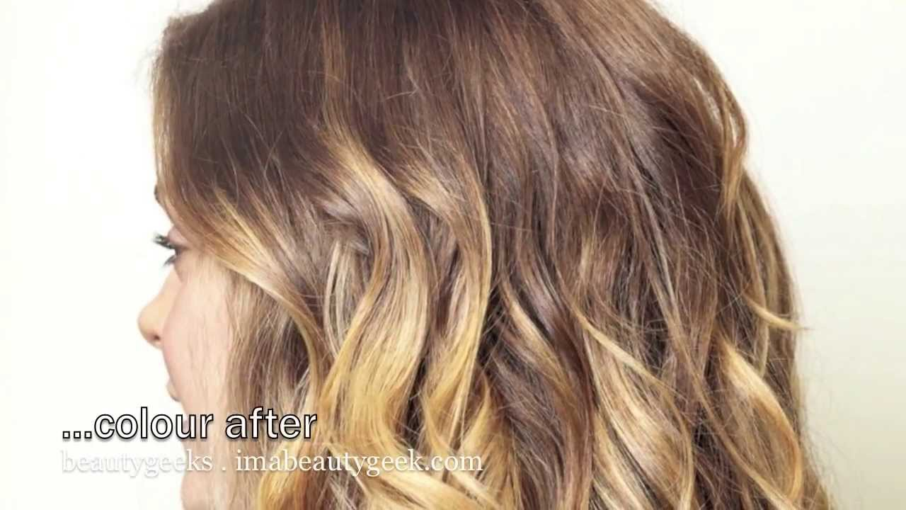 Ombre Hair Brown To Caramel To Blonde Medium Length BEAUTYGEEKS Baby Ombre via