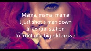 vuclip Rihanna- Man down lyrics