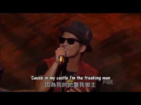 ◆The Lazy Song《懶惰之歌》- Bruno Mars ◇ 現場版 |  中文字幕