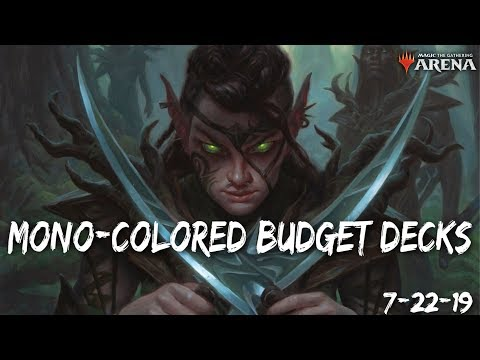 Mono-Colored Budget Decks LIVESTREAM [MTG ARENA] 7-22-19