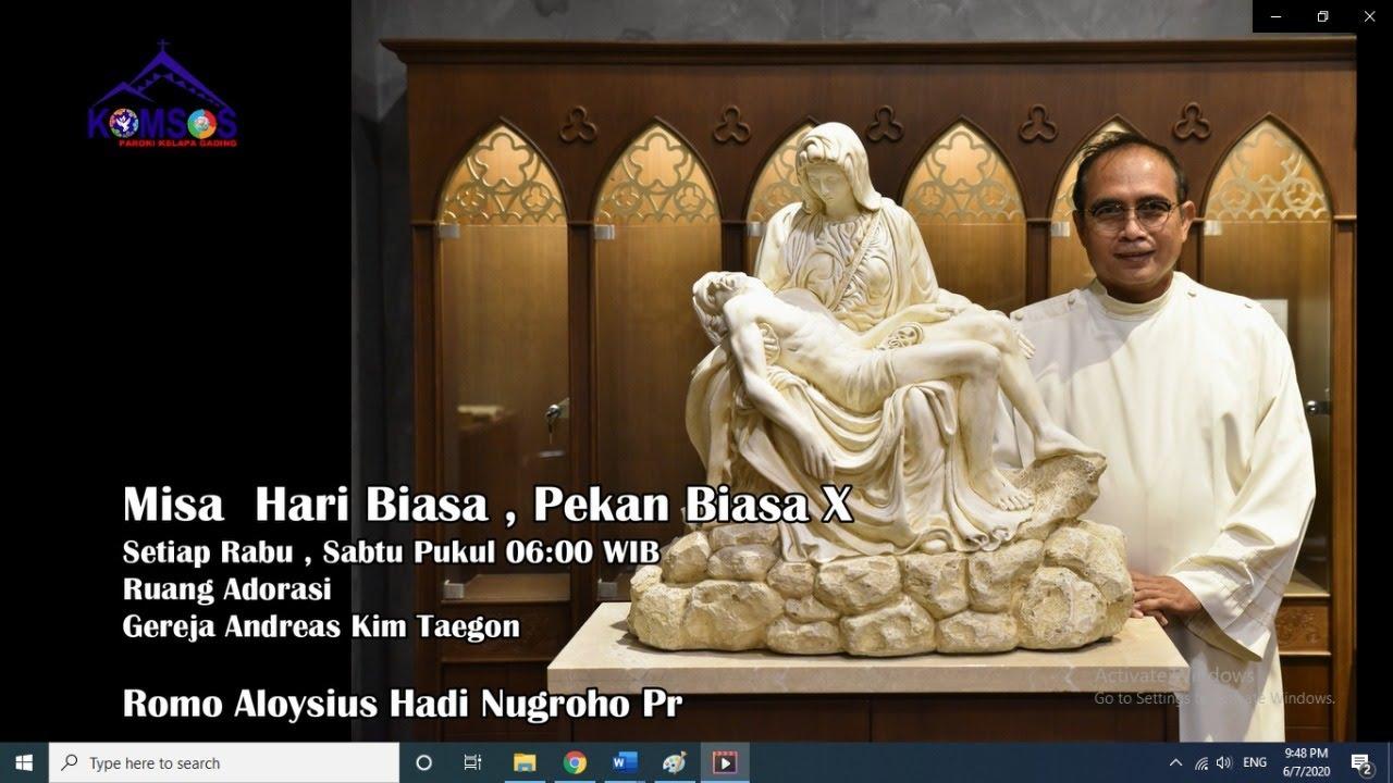 Misa Hari Biasa Pekan Biasa XIV, 8 Juli 2020 Pukul 06:00 WIB