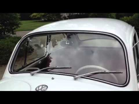 1966 vw beetle windshield wipers 12v two speed youtube for Vw bug windshield wiper motor