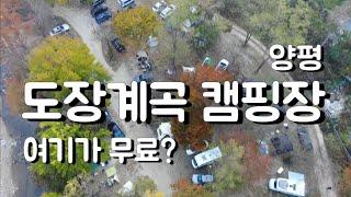 서울 40분이내 무료캠핑장 양평 도장계곡 휴식지캠핑장 …