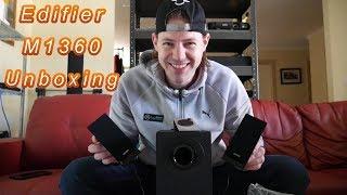Edifier M1360 unboxing 2.1 multimedia speakers 2017