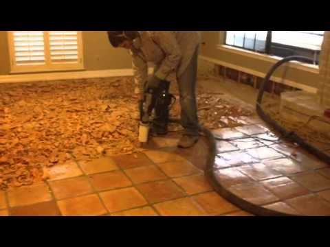 Removing Saltillo Tile In San Antonio Youtube