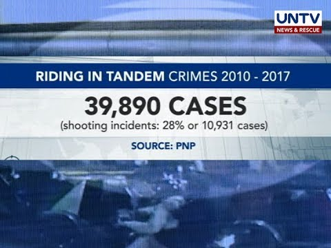 Riding-in-tandem criminals, target tutukan ng Philippine National Police