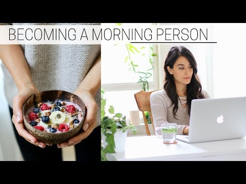BECOMING A MORNING PERSON » + printable guide