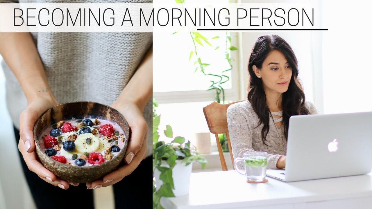 how to become a morning person in college