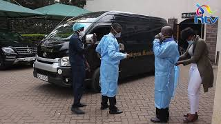 "Hearse carrying body of ""Papa Shirandula"" leaves Montezuma Monalisa Funeral Home for Busia"