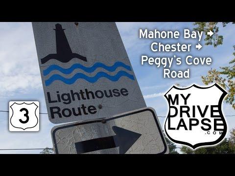 Nova Scotia's Lighthouse Route: Mahone Bay, Chester Dashcam