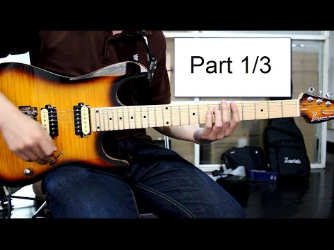How To Play : Canon Rock Solo Lesson Part 1/3 By Nut