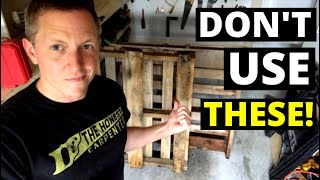 Don't Use Pallet Wood!! USE THIS INSTEAD...(Cull Wood Vs. Pallet Wood)