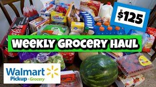 Weekly Grocery Haul | Walmart Pickup