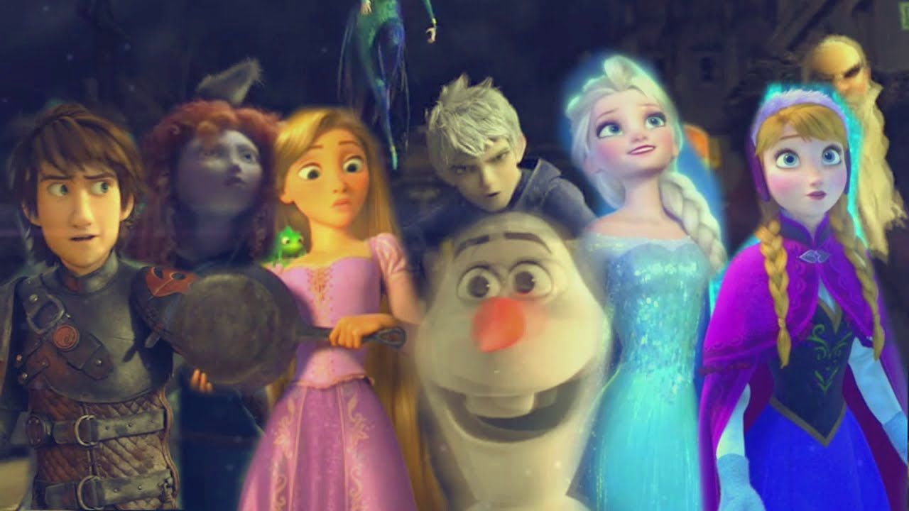 Rise of the Brave Tangled Frozen Dragons || We Are Family ... Frozen Tangled Brave