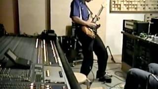Kiko Loureiro: in studio recording  No Gravity with Mike Terrana