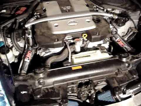 2008 350z w/ injen dual cold air intake first rev - YouTube
