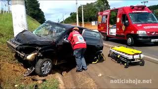 Grave acidente no Castelhano deixa motorista ferido