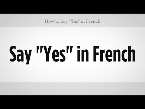 How to say yes sir in french