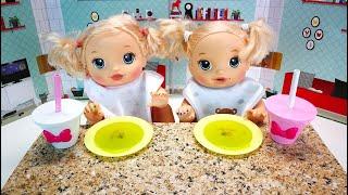 Быстрый Зелёный Супчик Как Мама Готовила Обед, Кормила Двойняшек Мультик для детей 108мама тив