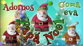Tutorial Papá Noel🎅, adorno guirnalda goma eva estilo country (Christmas decoration)🎄 Patrón free