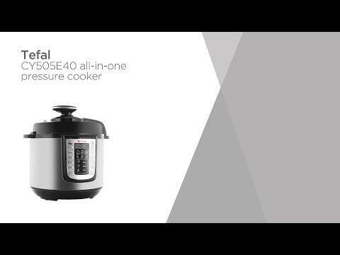 Tefal CY505E40 All-in-One Pressure Cooker - Steel & Black | Product Overview | Currys PC World
