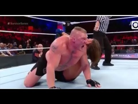 Brock lesnar vs Aj styles | Full match | Survivor series