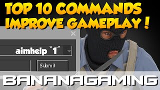 CS:GO - Top 10 commands for improving gameplay! | BananaGaming
