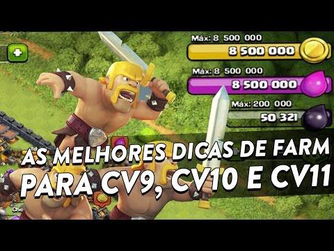 AS MELHORES DICAS DE FARM PARA CV9, CV10 E CV11 - CLASH OF CLANS - CLÃ APOCALIPSE