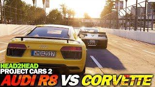 AUDI R8 V10 PLUS vs CORVETTE C7 Z06 (Project Cars 2)