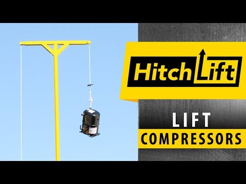 Lift Compressors, Condensers And Equipment On Rooftops With HitchLift