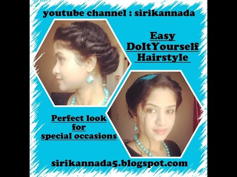 Easy and Quick, Best DIY updo hairstyle @SiriKannada #DIY #hairstyle