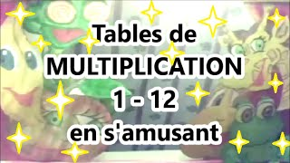 Apprendre à multiplier - tables de Multiplication 1-12 : Calcul mental cm1
