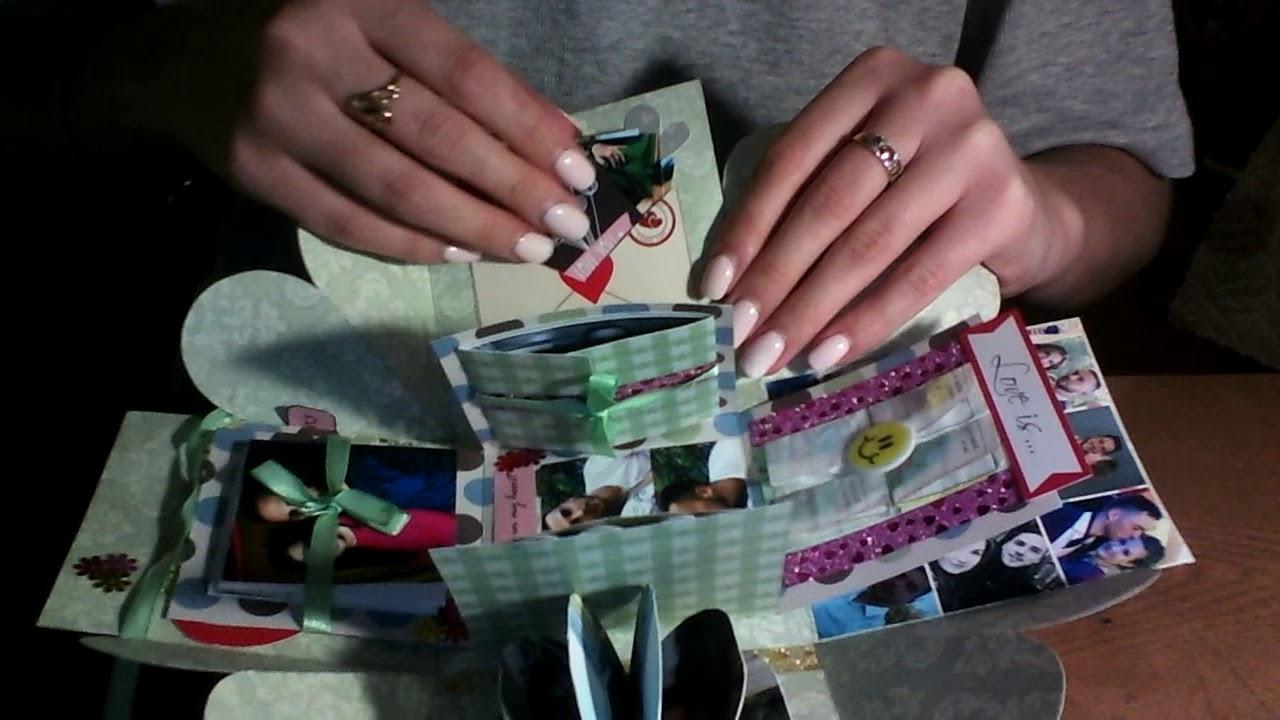 Коробочка с фотографиями своими руками - YouTube