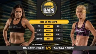 BKFC 8: Sheena Starr vs Delaney Owens  |  Women's Bare Knuckle Division |