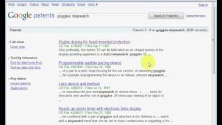 Basic Patent Searching (using google)