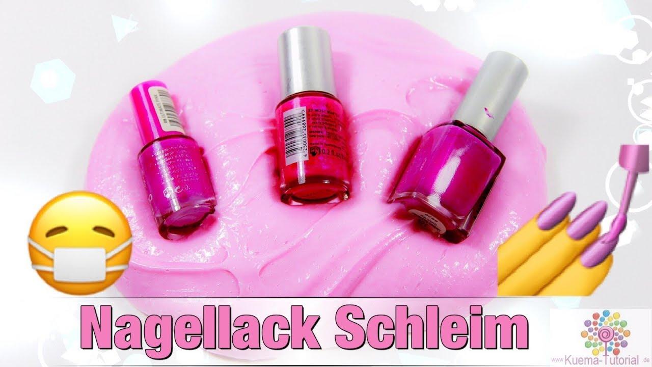 Teste Nagellack Schleim   Glossy   Geruch   Nai polish Slime - YouTube