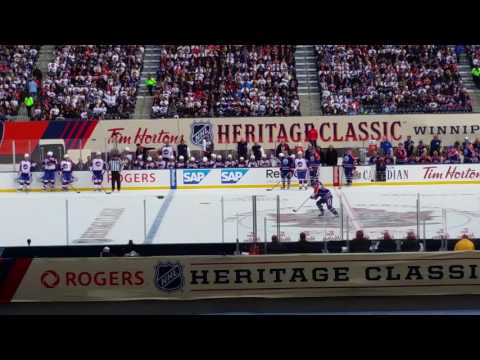 Winnipeg Jets vs Edmonton Oilers Alumni Game Mark Messier Penalty Shot