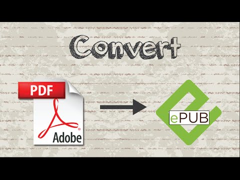 How to convert PDF file to EPUB format