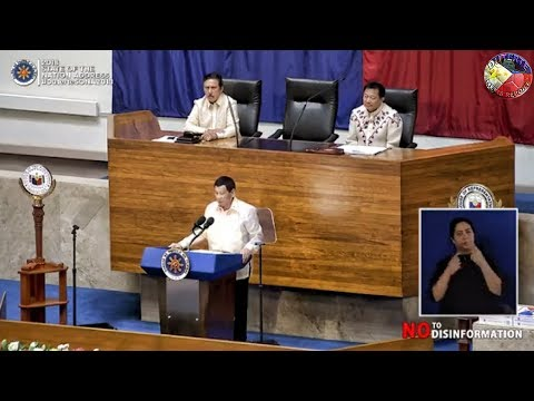 PRESIDENT DUTERTE SONA2018 - JULY 23, 2018 (FULL SPEECH)