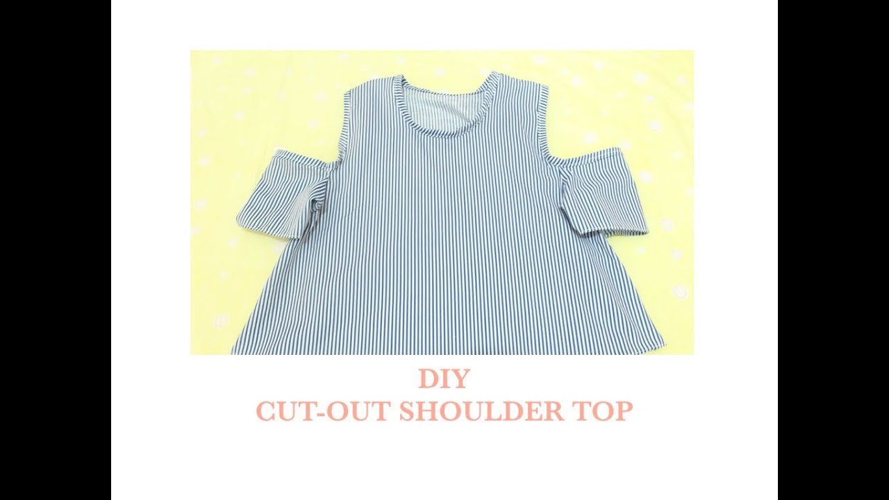 bc056ce9b6c98f How to make a cut-out shoulder top - YouTube